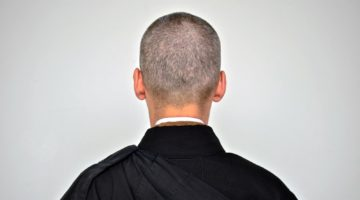Back of a meditator's head