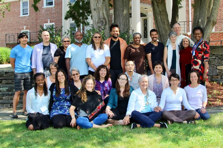 A group of Insight Meditation Society teacher trainees and trainers.