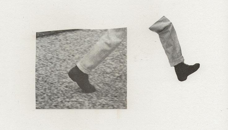 Two disjoined legs walking.