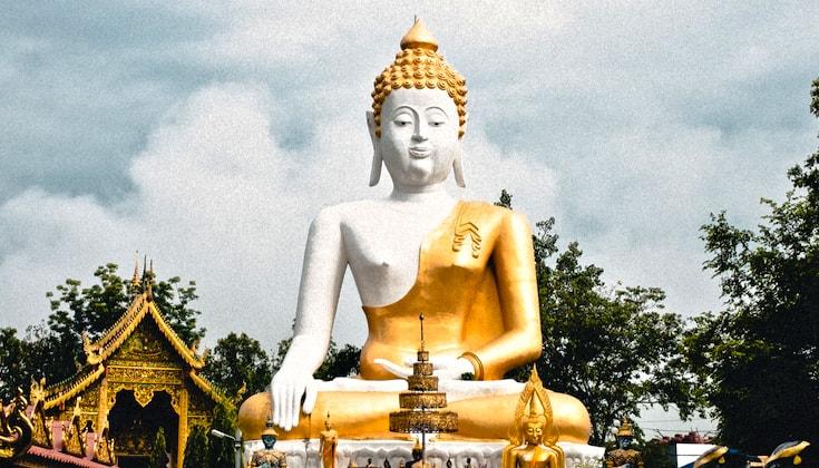 Buddha statue in Thailand.