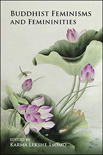 """Book cover for """"Buddhist Feminisms and Femininities."""" There are flowers on the cover."""