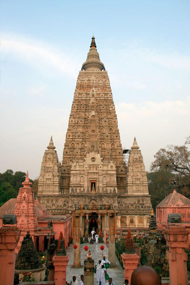 "Photo of the Mahabodhi Mahavihar ""Great Awakening Temple"""