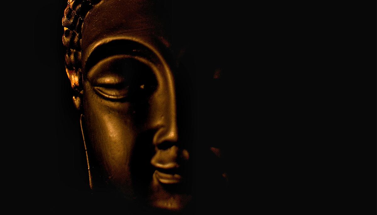 Buddha face.